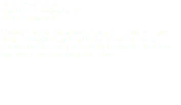 Direct: 425.941.5653 Email: kari.mcphail@me.com Skype: kari.mcphail A boutique design and marketing firm in the Seattle area. My clients are from both small and large companies in Seattle, Bellevue, Kirkland, Snohomish County, Los Angeles, New York, Vancouver Canada and Bordeaux France.